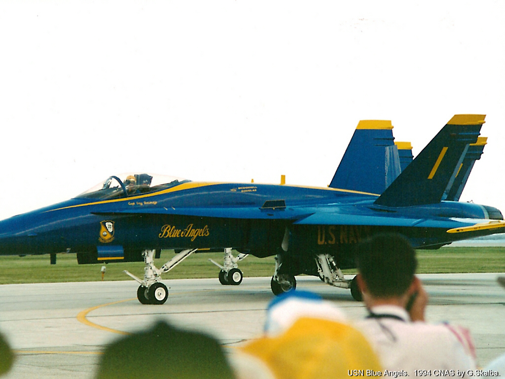 F 18 Blue Angel in Cleveland