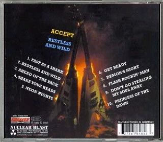 Accept: Restless & Wild (CD) Review / Cover Scans | Sega