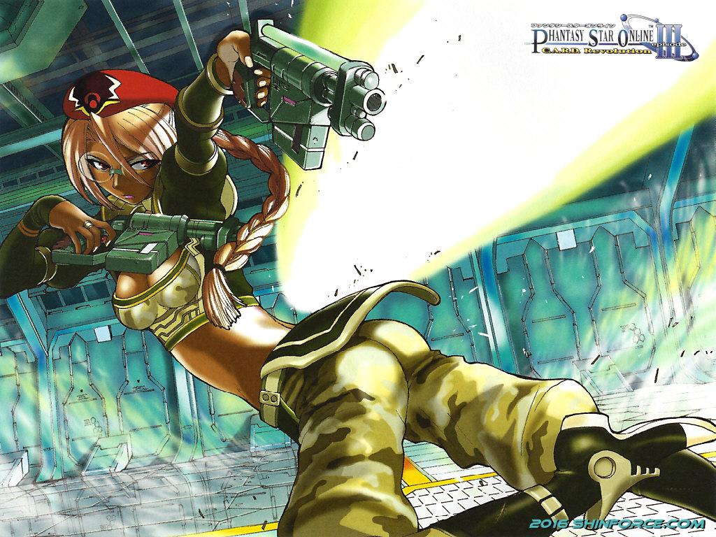 Phantasy Star Online Wallpaper: Phantasy Star Online: Episode III C.A.R.D. Revolution