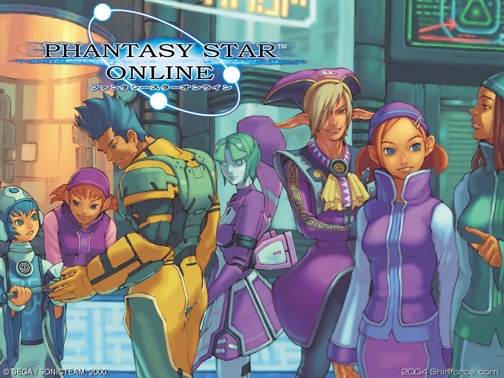 Phantasy Star Online Wallpaper: Phantasy Star Online - Pioneer 2 Shops