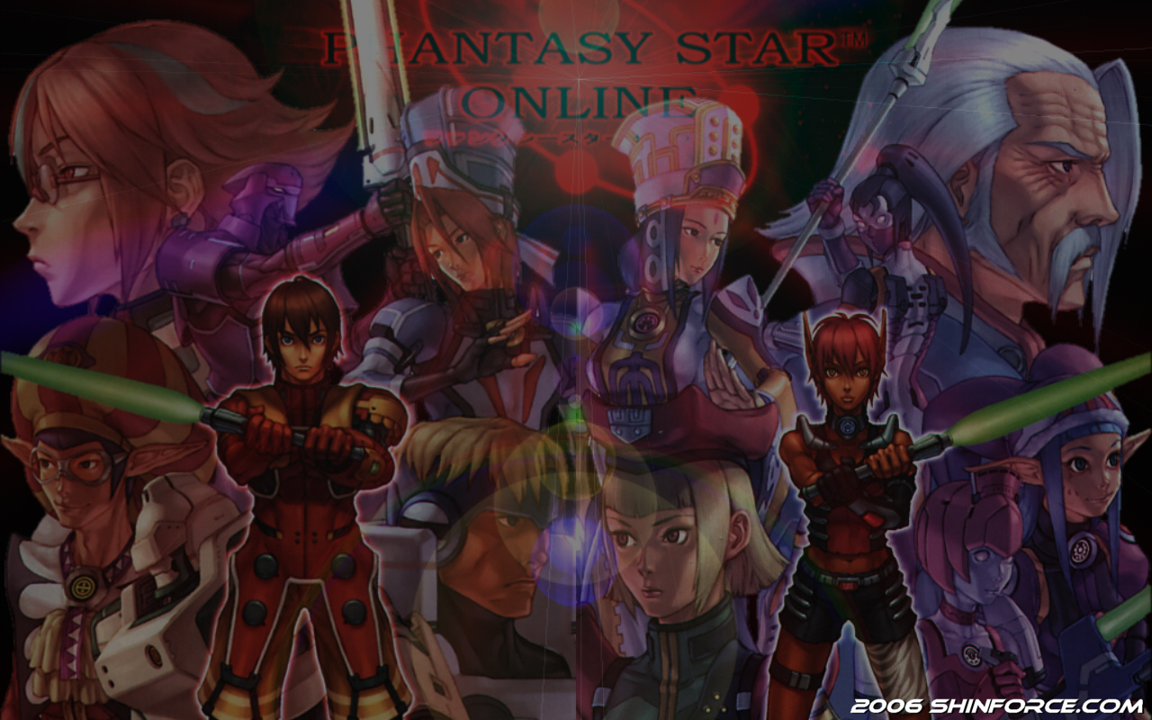 Phantasy Star Online Wallpaper: Phantasy Star Online (PSO) Episode I&II Wallpaper