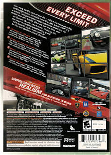 Project Gotham Racing 3 Box Art / Cover Scans / Microsoft